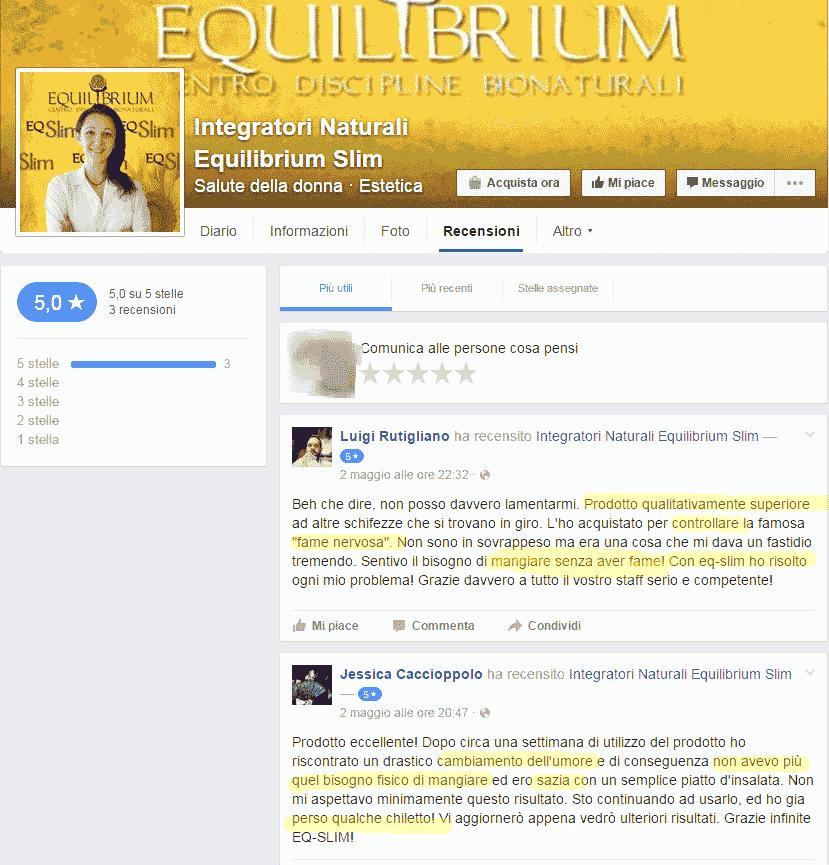 Integratore Naturali Equilibrium Slim Recensioni