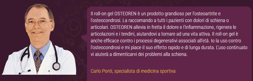 Osteoren opinioni medici Carlo Ponti