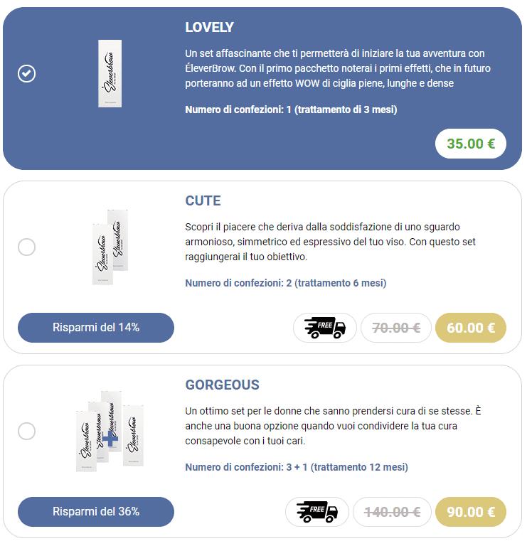 Eleverbrow prezzi