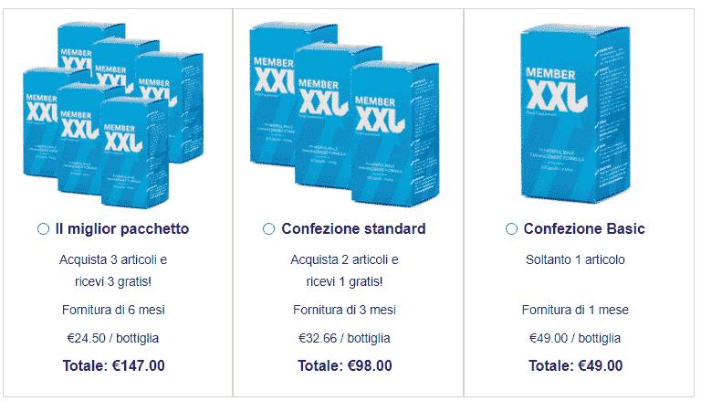 Member XXL prezzo